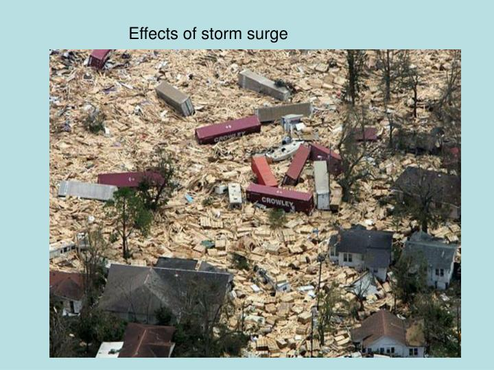 Effects of storm surge