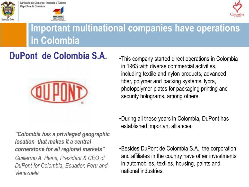DuPont  de Colombia S.A.