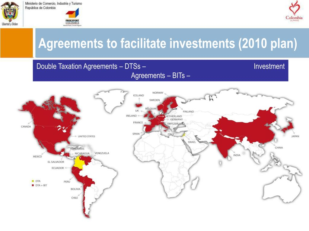 Agreements to facilitate investments (2010 plan)