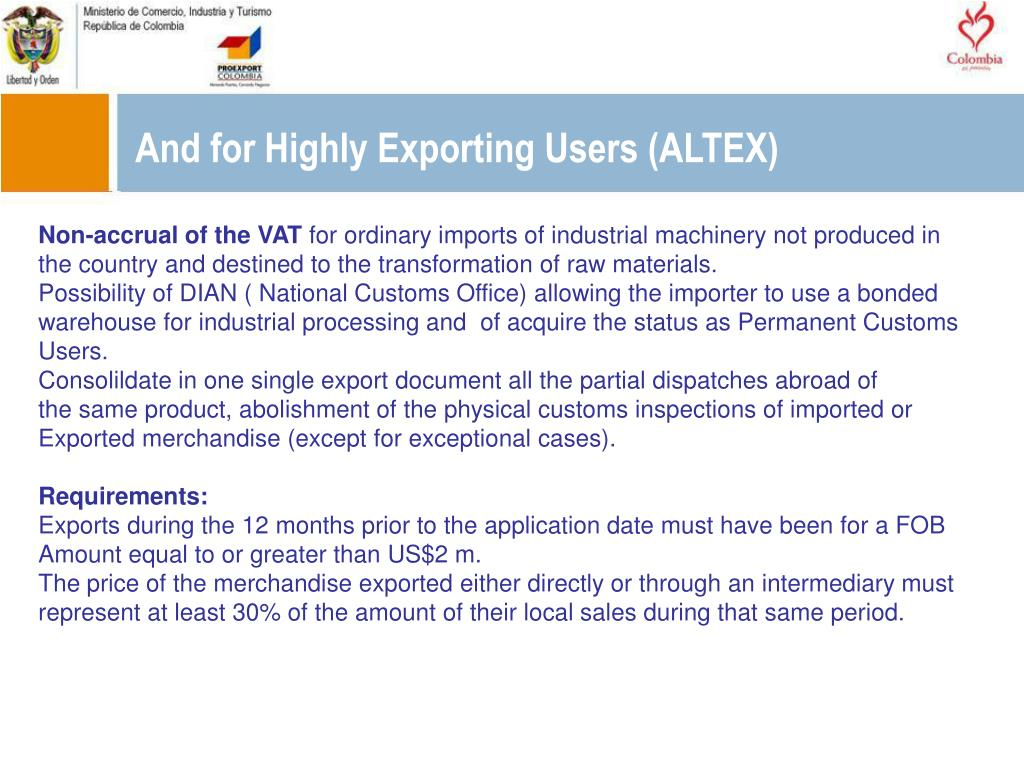 And for Highly Exporting Users (ALTEX)