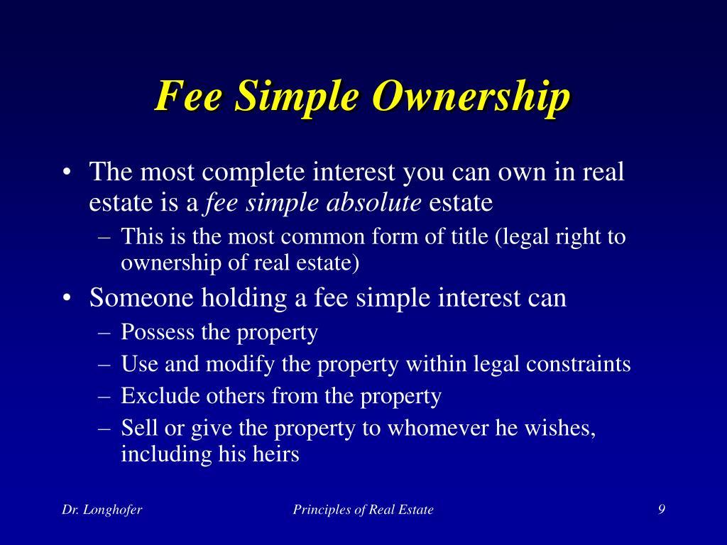 Fee Simple Ownership