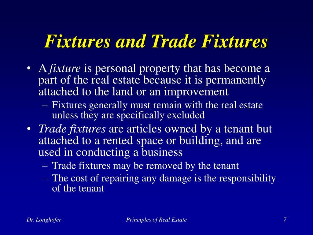 Fixtures and Trade Fixtures