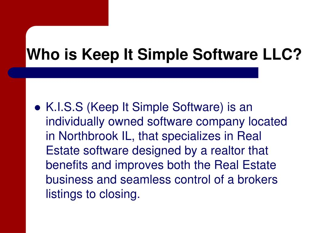 Who is Keep It Simple Software LLC?