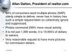 allan dalton president of realtor com