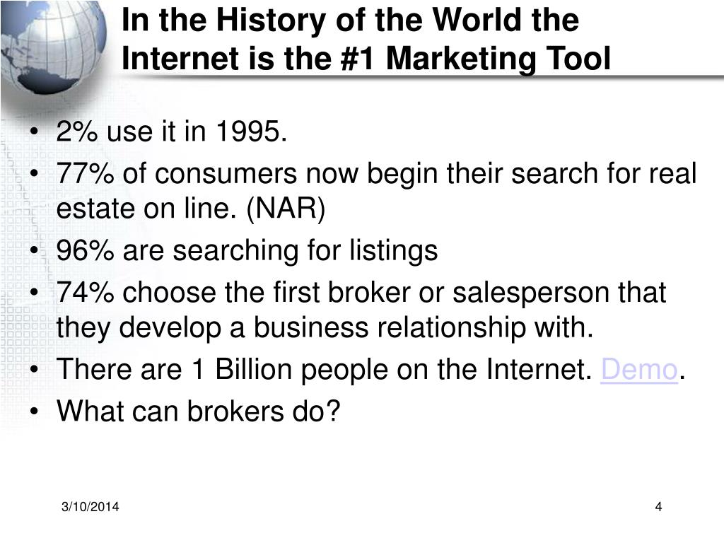 In the History of the World the Internet is the #1 Marketing Tool