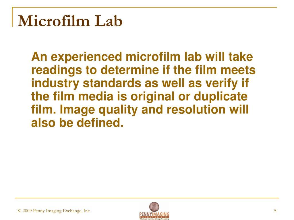 Microfilm Lab