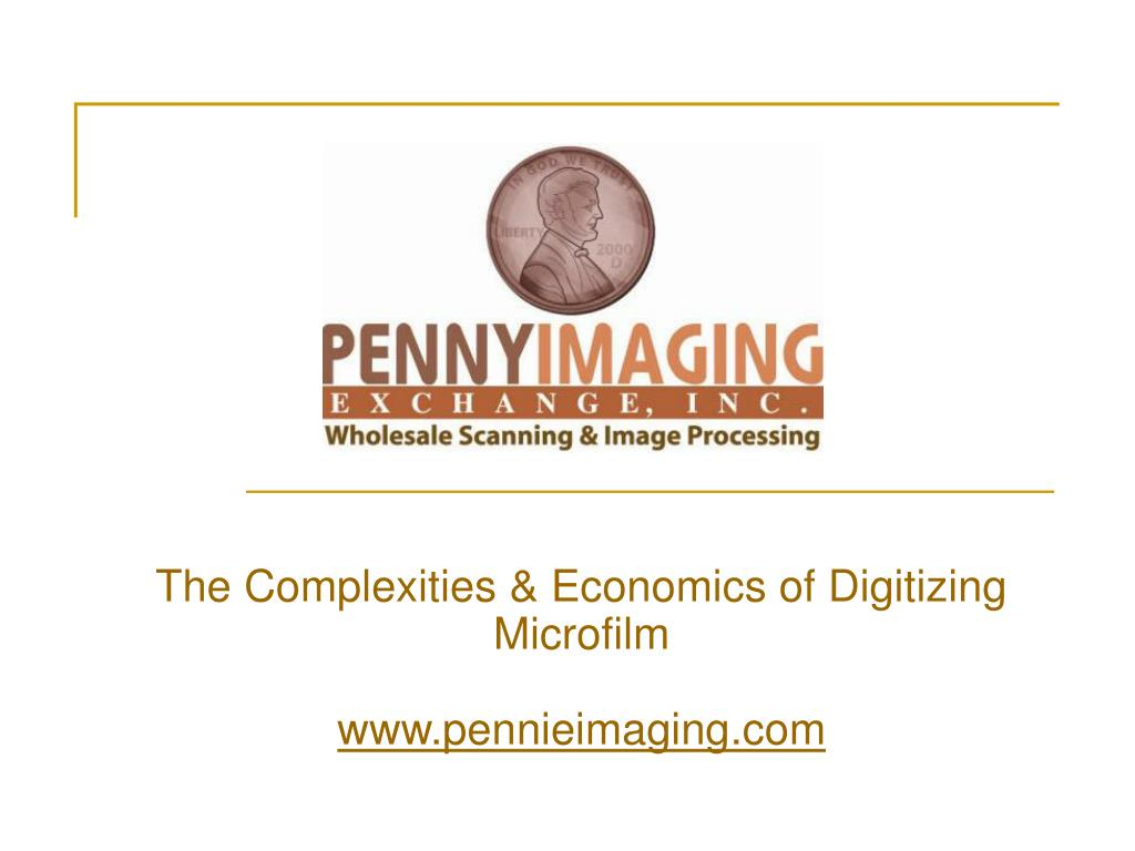 The Complexities & Economics of Digitizing Microfilm