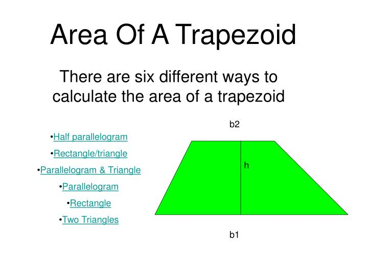 PPT - Area Of A Trapezoid PowerPoint Presentation - ID:796047