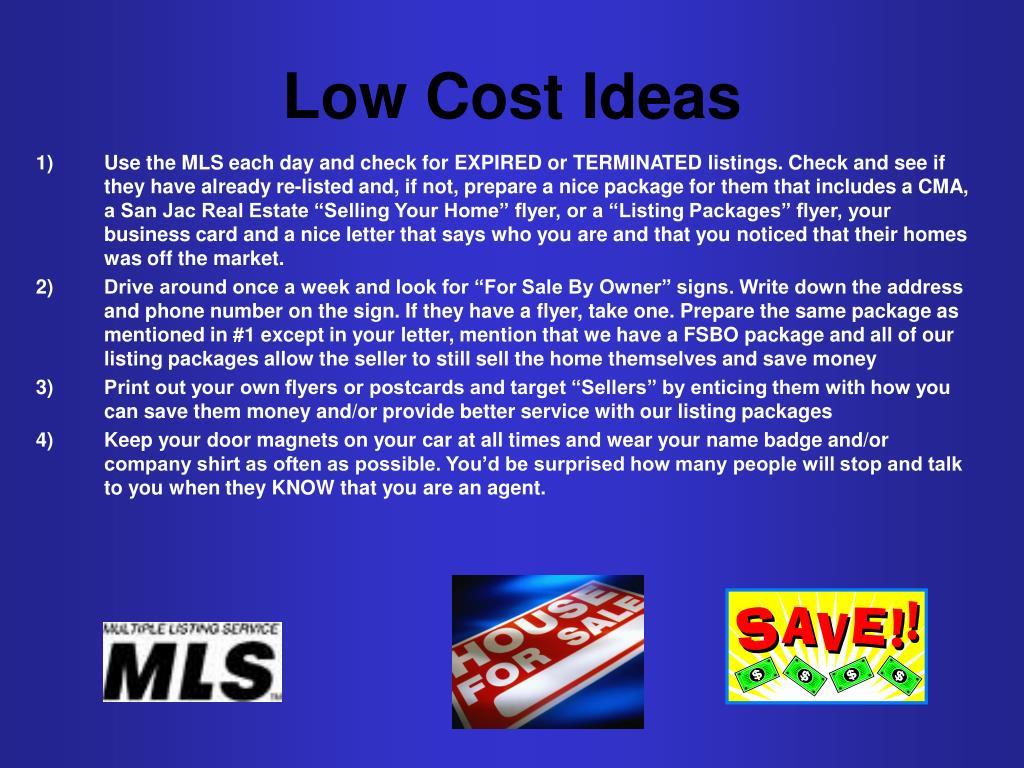 Low Cost Ideas