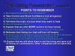 the listing presentation continued11