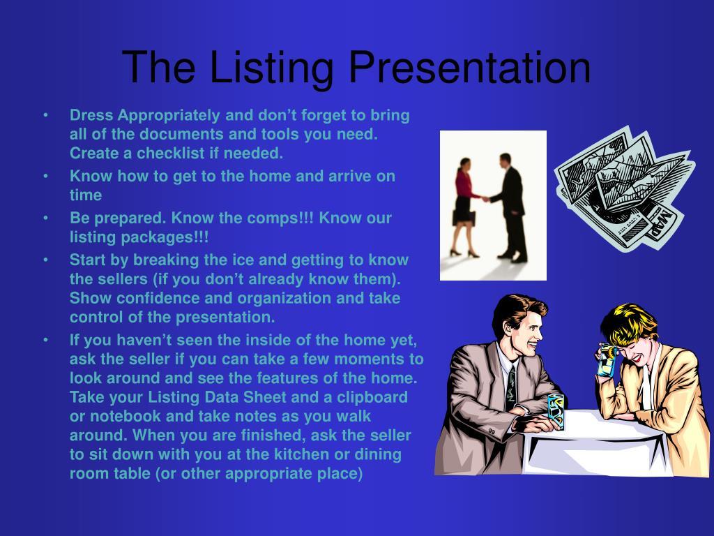 The Listing Presentation