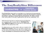 the easyrealtysites differences10
