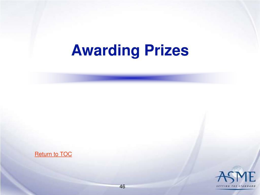 Awarding Prizes