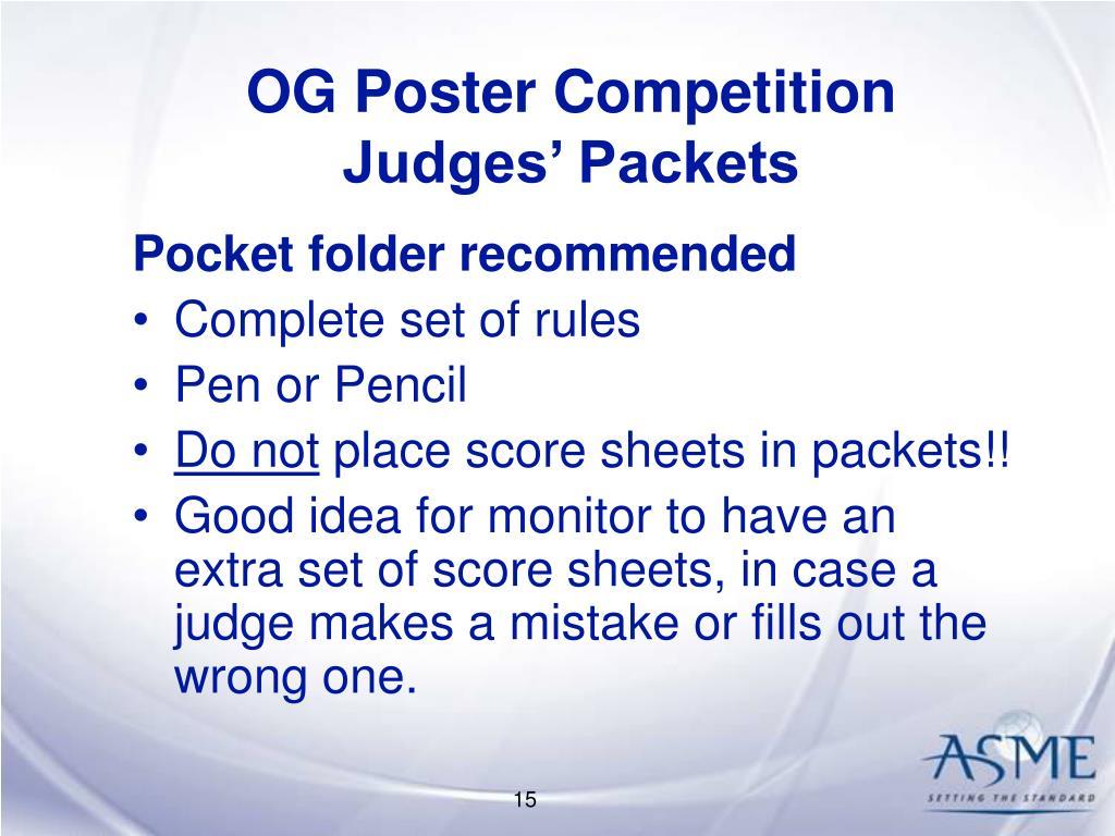 OG Poster Competition