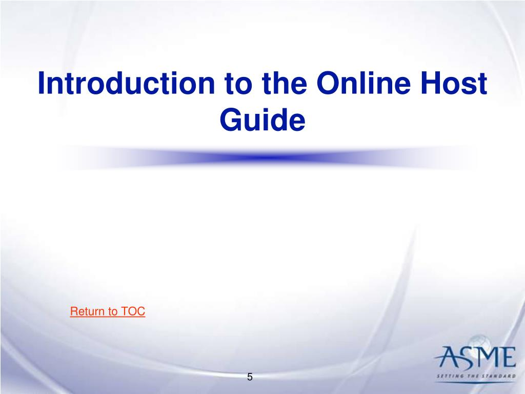 Introduction to the Online Host Guide