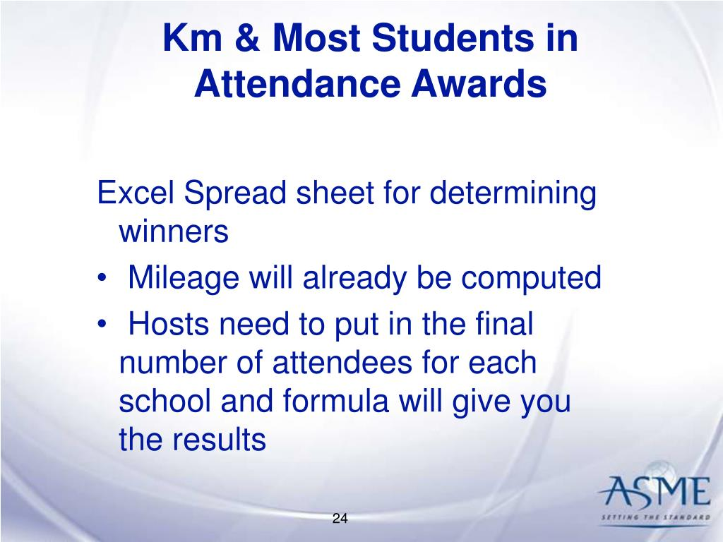 Km & Most Students in Attendance Awards