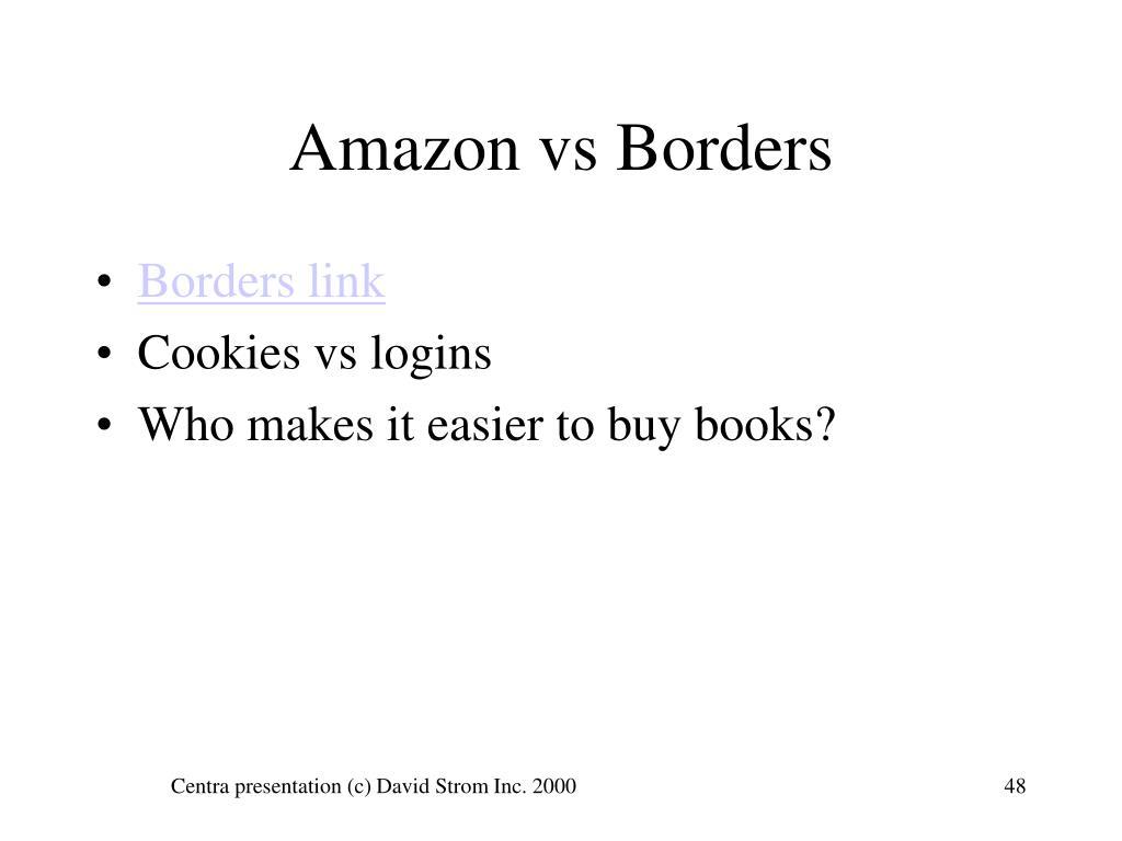 Amazon vs Borders