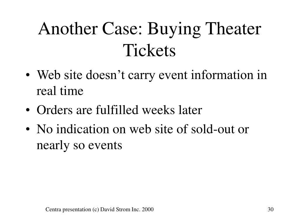 Another Case: Buying Theater Tickets