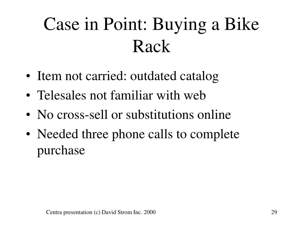 Case in Point: Buying a Bike Rack