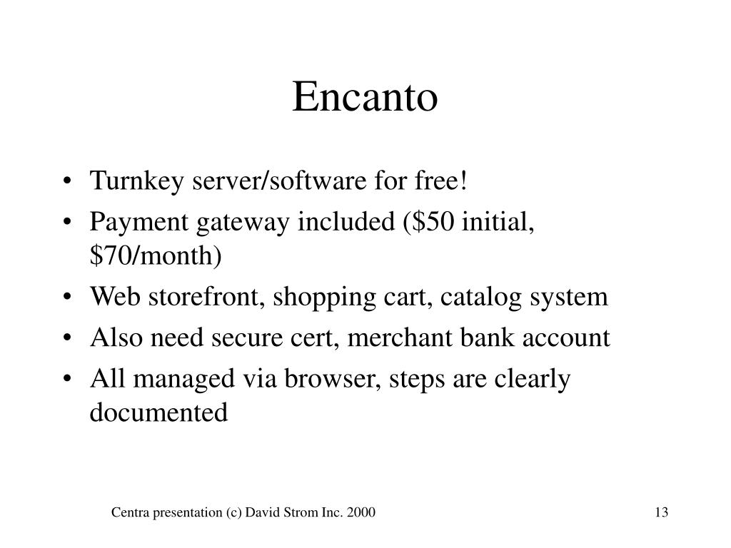Turnkey server/software for free!