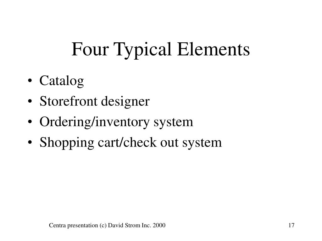 Four Typical Elements