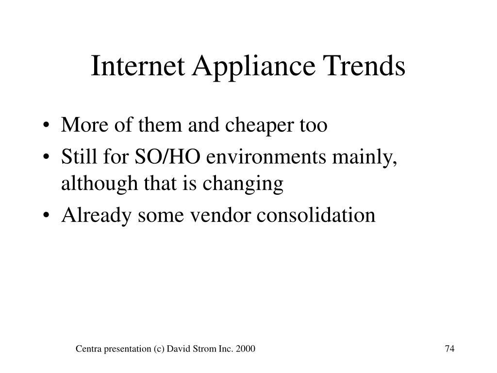 Internet Appliance Trends