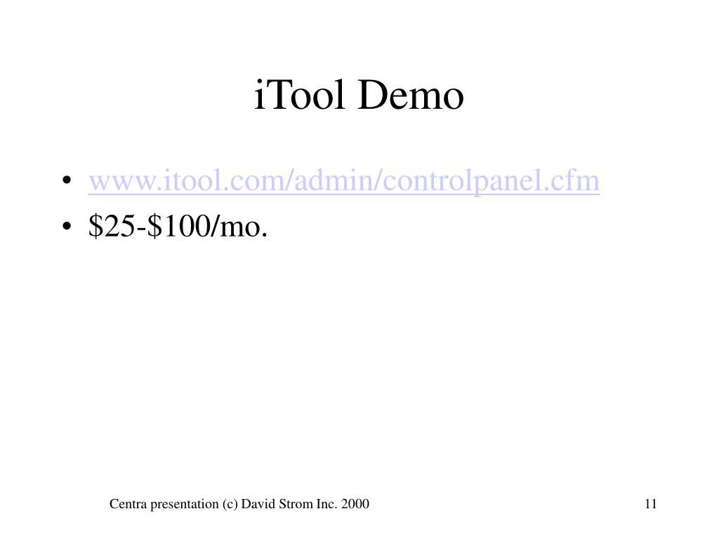 iTool Demo