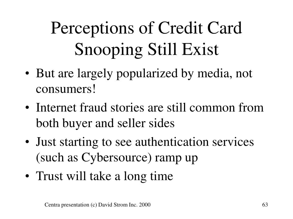 Perceptions of Credit Card Snooping Still Exist