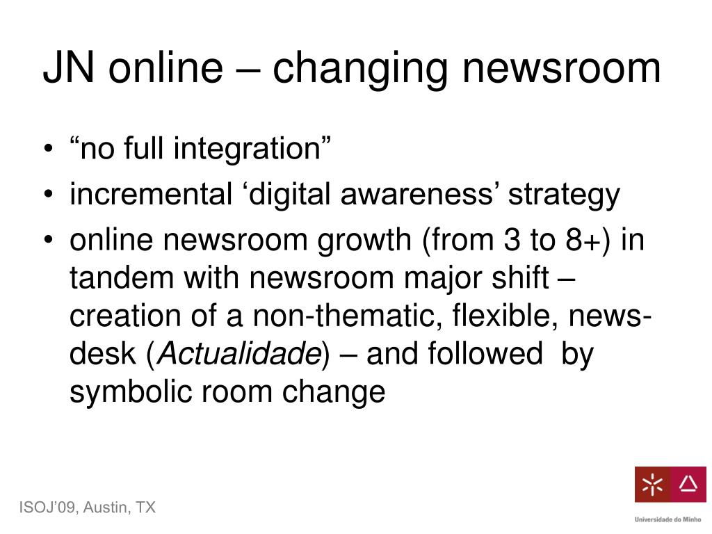 JN online – changing newsroom