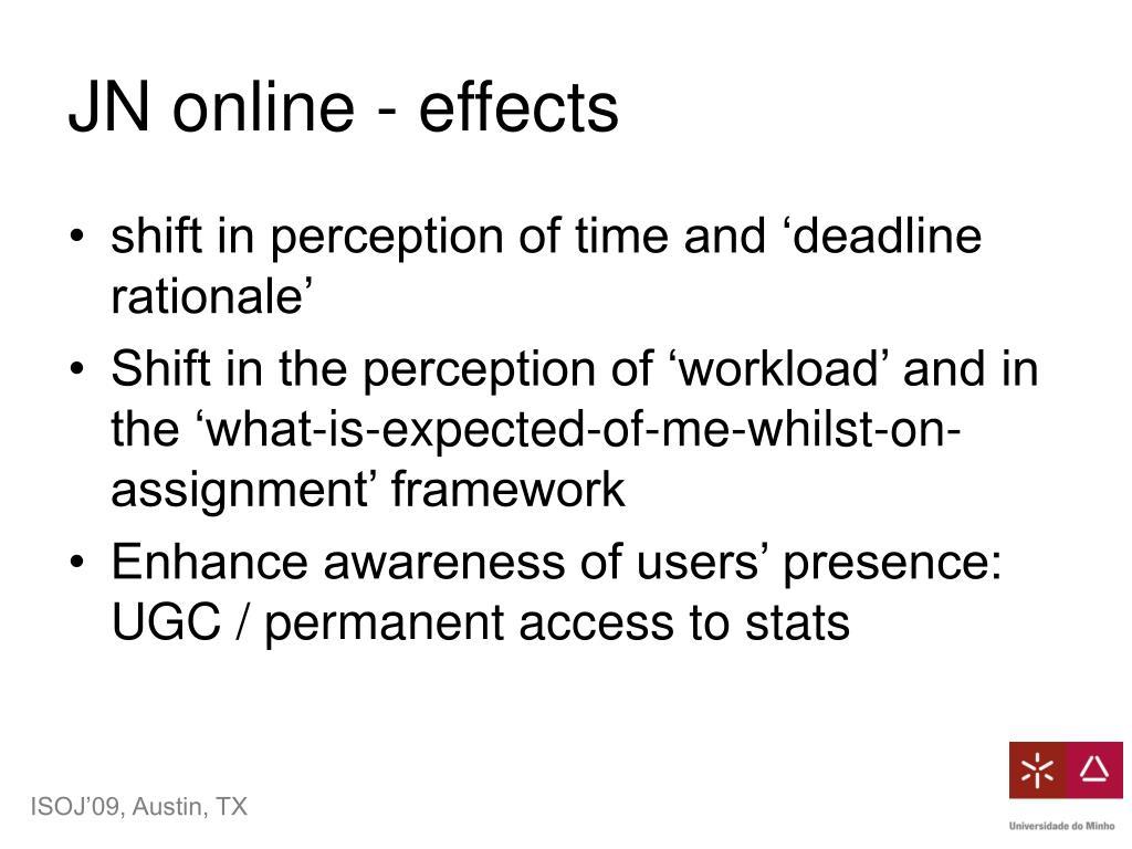 JN online - effects