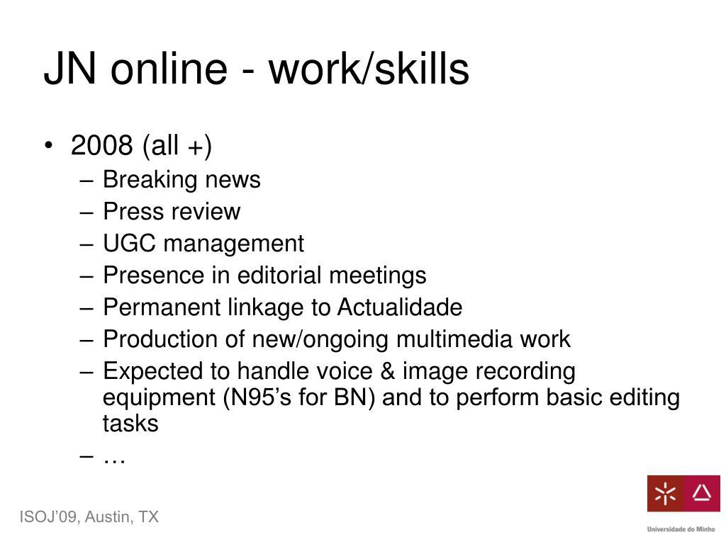 JN online - work/skills