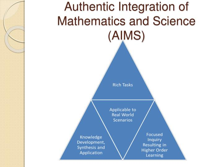 i integrating science and mathematics Integrating science and math: data analysis and weather a study of weather and climate naturally lends itself to integration with mathematics  science and math.