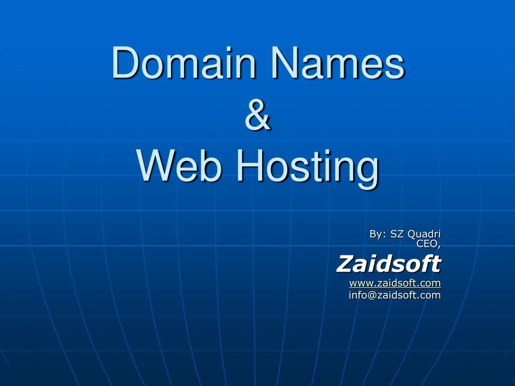 domain names web hosting