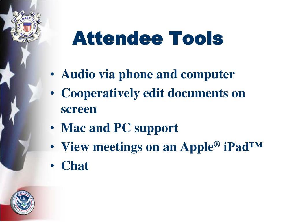 Attendee Tools