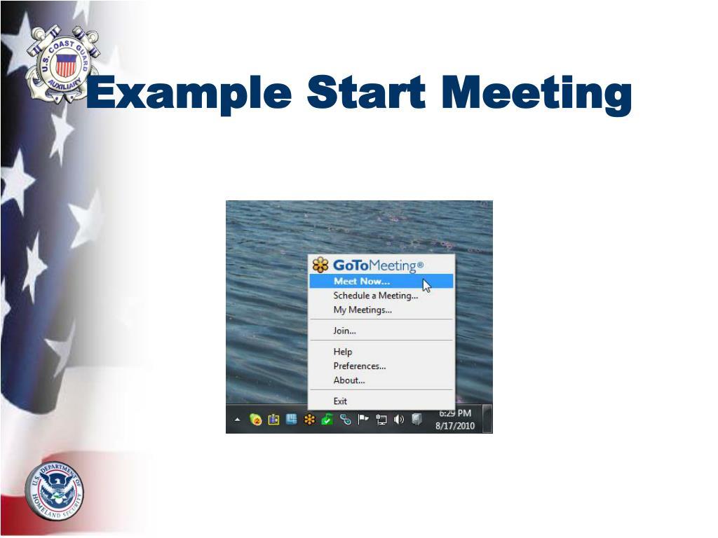 Example Start Meeting