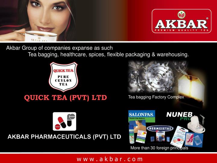 Akbar Group of companies expanse as such