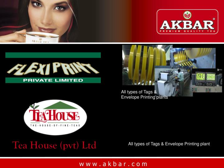 All types of Tags & Envelope Printing plants