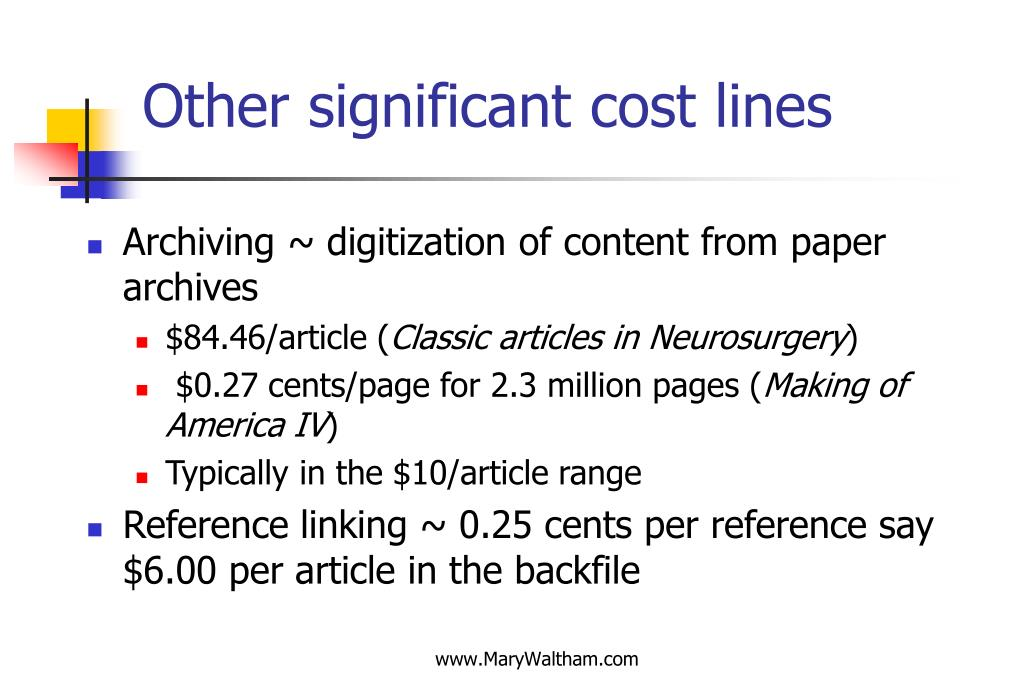 Other significant cost lines