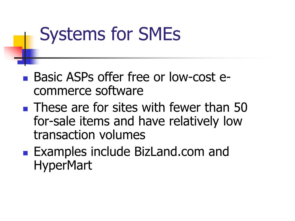 Systems for SMEs