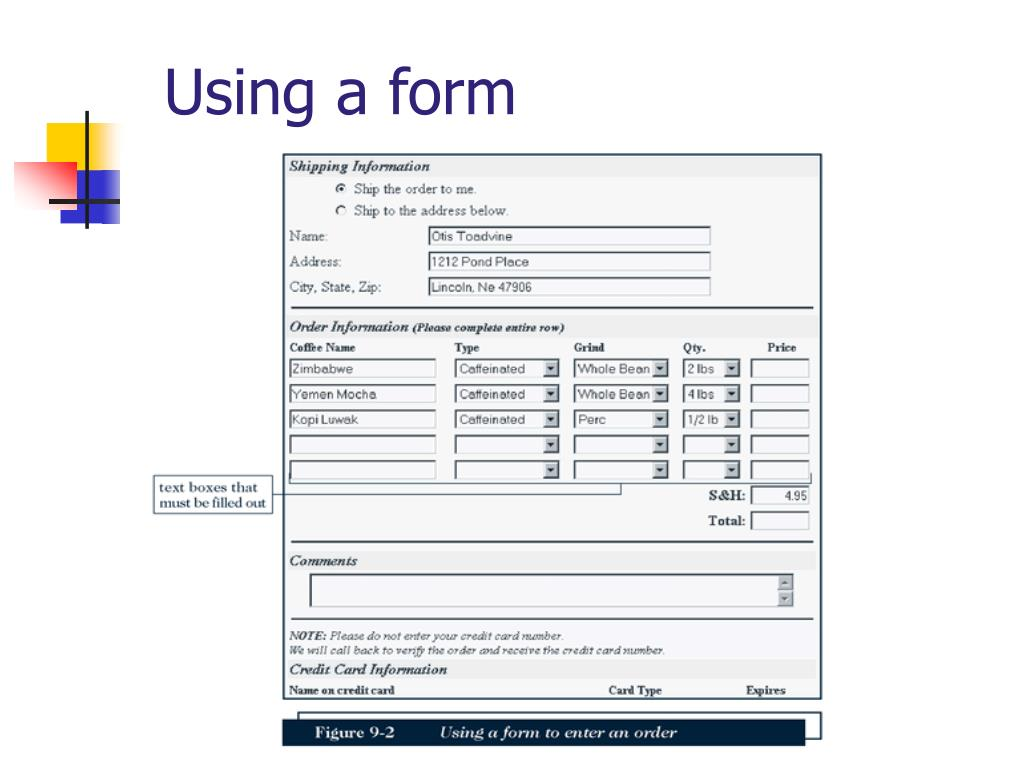 Using a form
