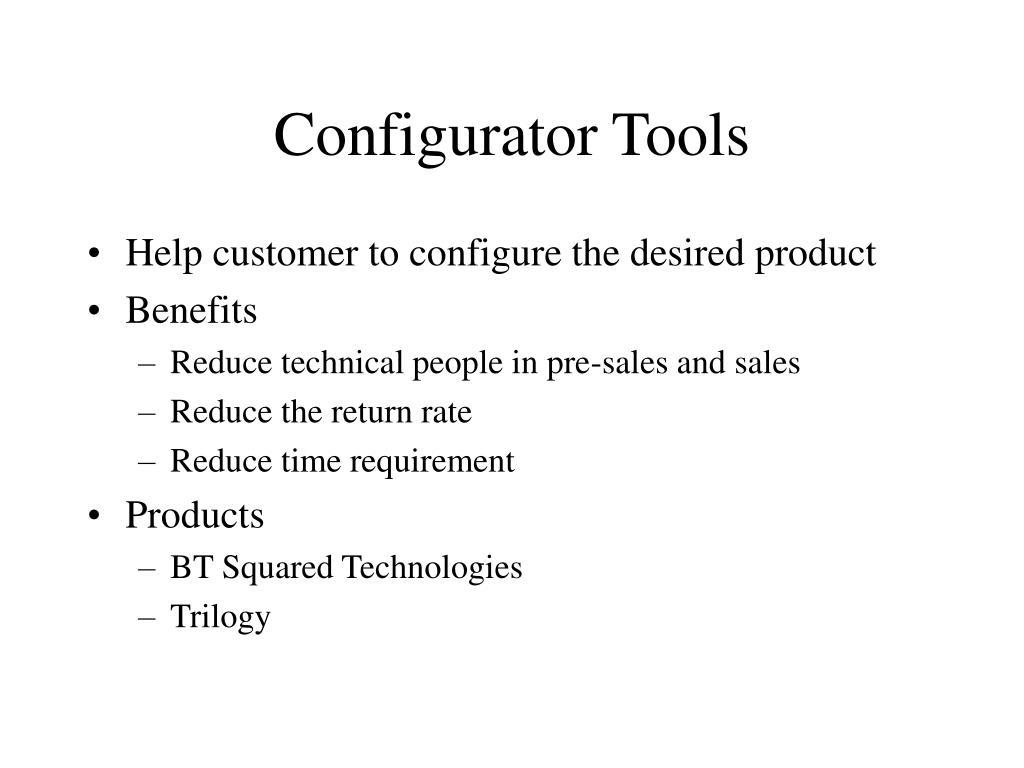 Configurator Tools