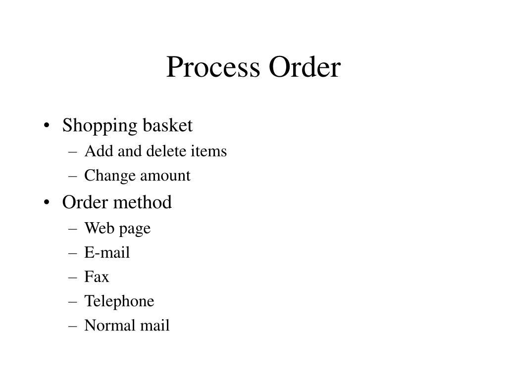 Process Order