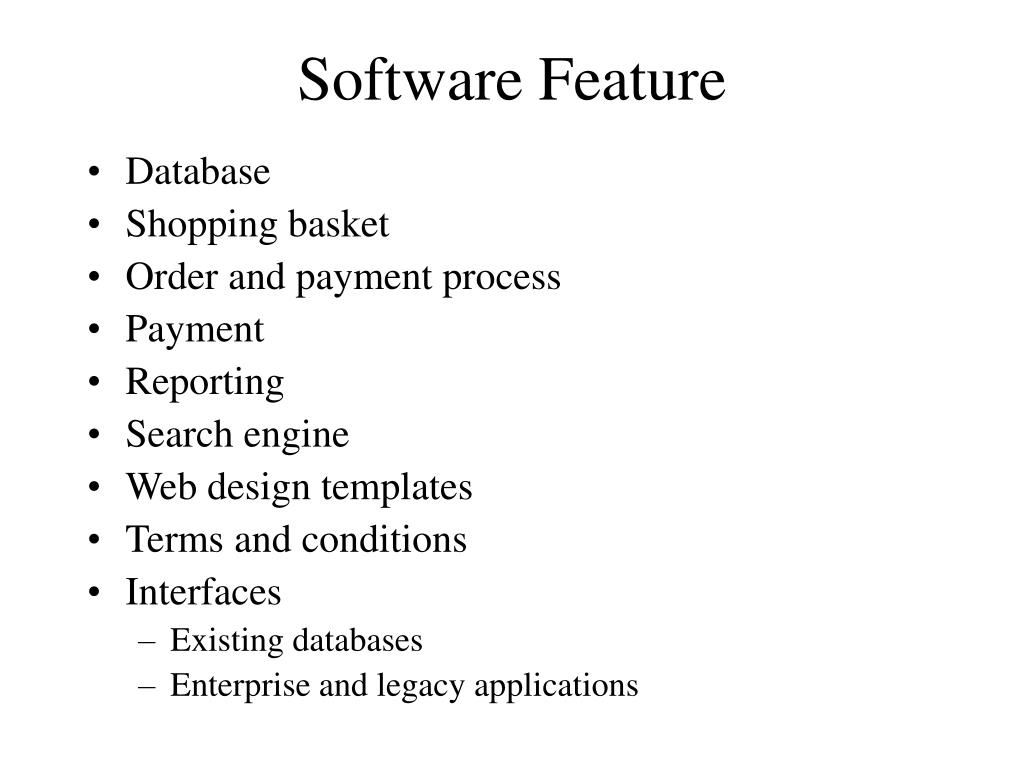 Software Feature