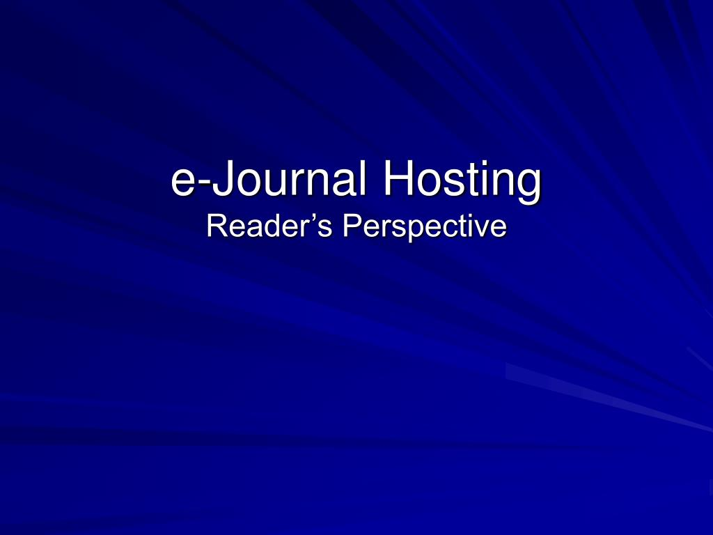 e-Journal Hosting
