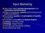 input marketing
