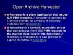 open archive harvester