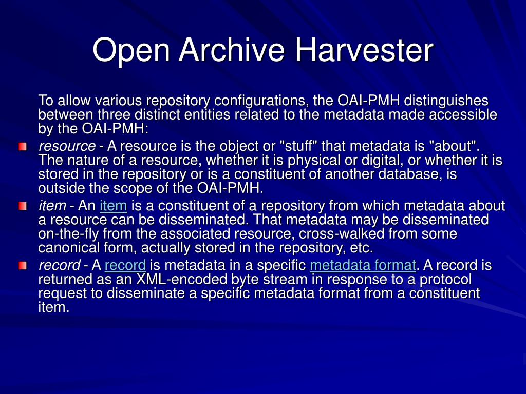 Open Archive Harvester