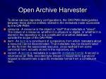 open archive harvester53