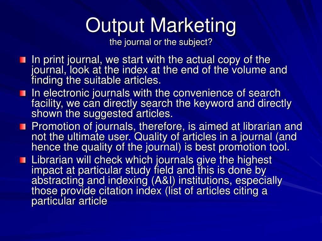 Output Marketing