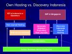 own hosting vs discovery indonesia